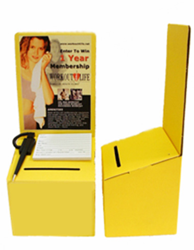 Cardboard Leadbox in Yellow