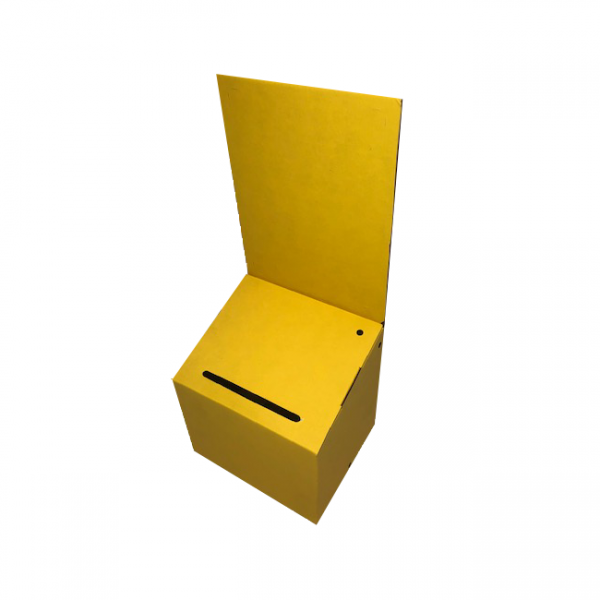Cardboard Lead Box in Yellow - Sold in packs of 6